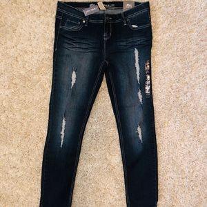 Wet Seal (Blue Asphalt) Skinny Jeans